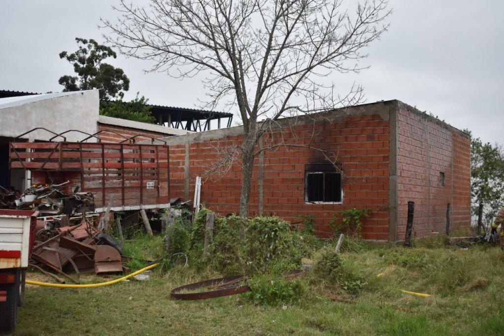 Foco ígneo en una vivienda de Colateral Aguirre Almada