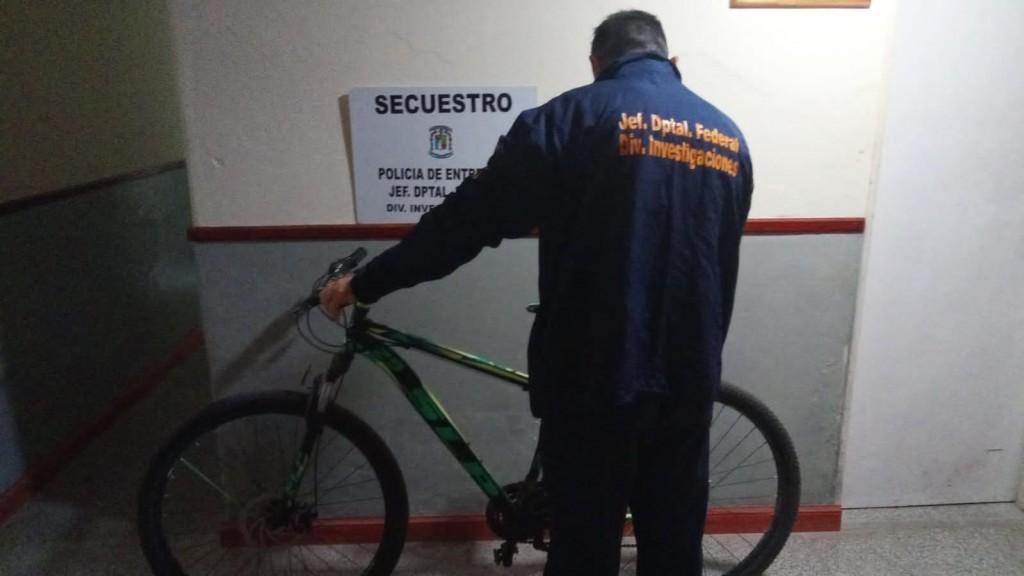 A pocas horas de ser robada recuperan bicicleta