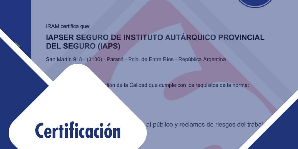 IAPSER Seguros y el Centro Provincial de Convenciones obtienen importantes certificaciones en sus rubros.