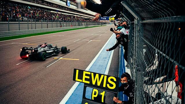 Histórico: Hamilton triunfó en Rusia y llegó a las 100 victorias en la Fórmula 1