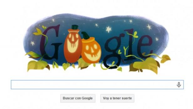 Google festeja Halloween con un original doodle