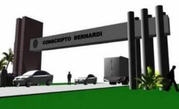 Construyen el arco de acceso a Conscripto Bernardi