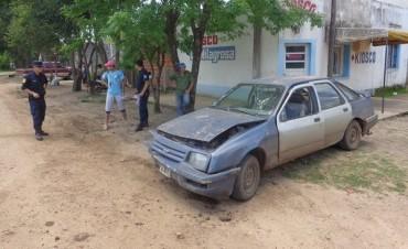 Choque en barrio Las Flores, un chico lesionado