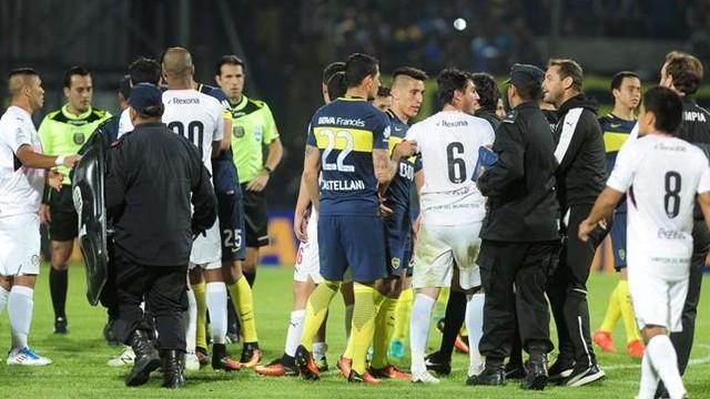 El amistoso entre Boca y Olimpia terminó en un escándalo