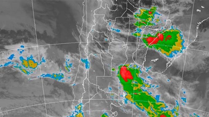 Alerta por lluvias intensas para una zona de Entre Ríos y otras provincias
