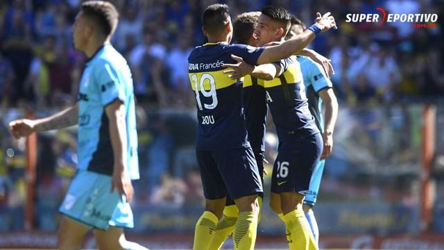 El entrerriano Bou marcó en la goleada de Boca ante Temperley