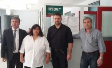 El Intendente y la Senadora gestionaron la Rehabilitación del Iosper en el Hospital