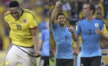 Colombia y Uruguay, iguales en un gran partido