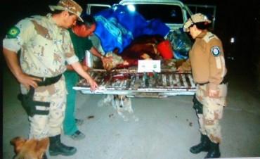 Detenidos y secuestran elementos por faenada clandestina