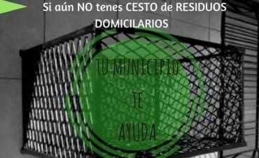 El Municipio te ayuda a obtener tu Cesto de Residuos Domiciliarios.