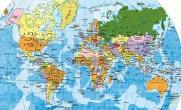 Historia, Astrofísica y Psicología: Por qué el norte queda arriba en los mapas