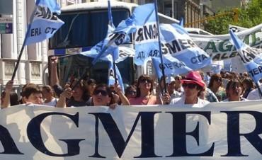 Por recomposición salarial, docentes nucleados en Agmer paran este martes