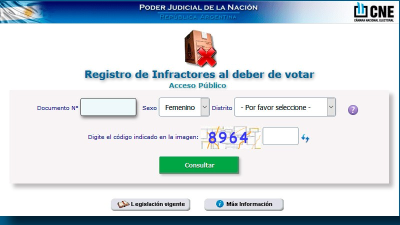Vence el plazo para justificar el no voto en las PASO de agosto