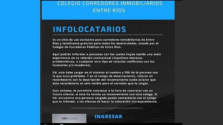 """Polémico: Inmobiliarias crean una """"lista negra de inquilinos"""" en Entre Ríos"""