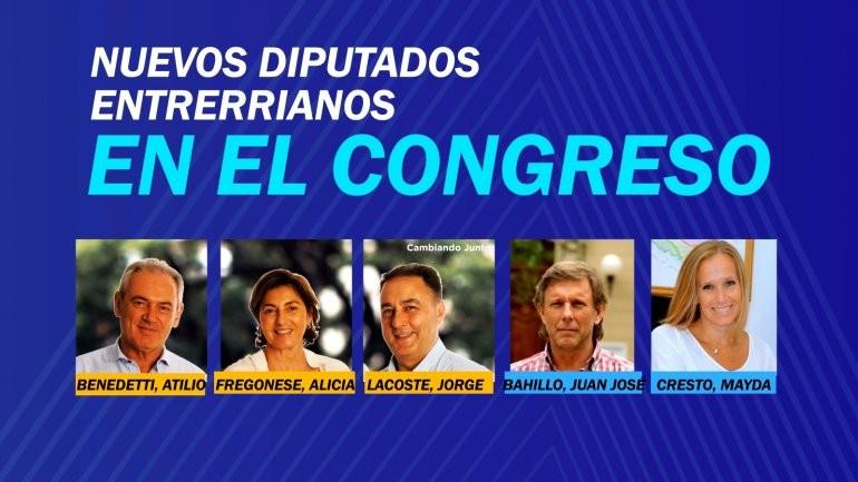 Quiénes serán los nuevos diputados nacionales por Entre Ríos