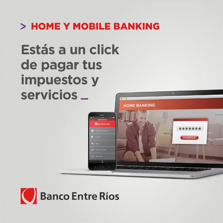 Banco Entre Ríos incorporó nuevas funciones a Home Banking y Mobile Banking