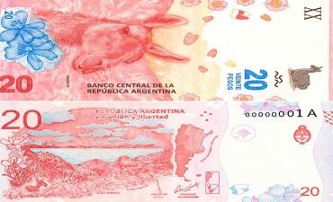 Las medidas de seguridad del nuevo billete de 20 pesos que entra en circulación