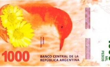 En noviembre lanzarán el billete de 1000 pesos