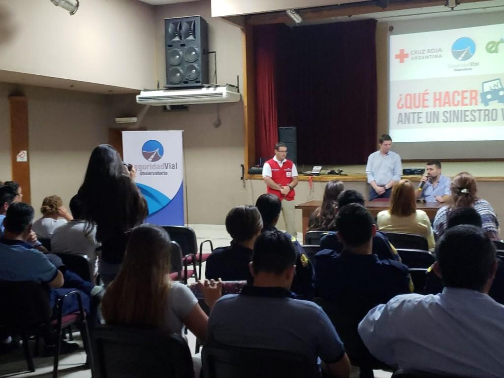 SE REALIZÓ EN FEDERAL UN TALLER DE PRIMEROS AUXILIOS ANTE SINIESTROS VIALES