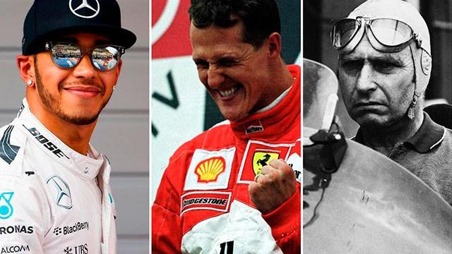 Lewis Hamilton, el rompe récords: igualó a Fangio y ahora por Schumacher