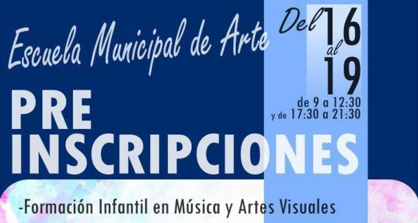 PRE-INSCRIPCIONES EN LA ESCUELA MUNICIPAL DE ARTE