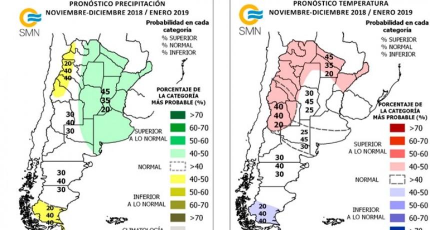 Pronóstico trimestral: Qué pasará con la temperatura y las lluvias hasta enero