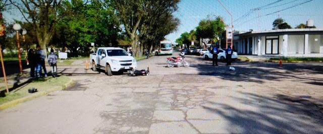 Accidente en transitada esquina de la Ciudad