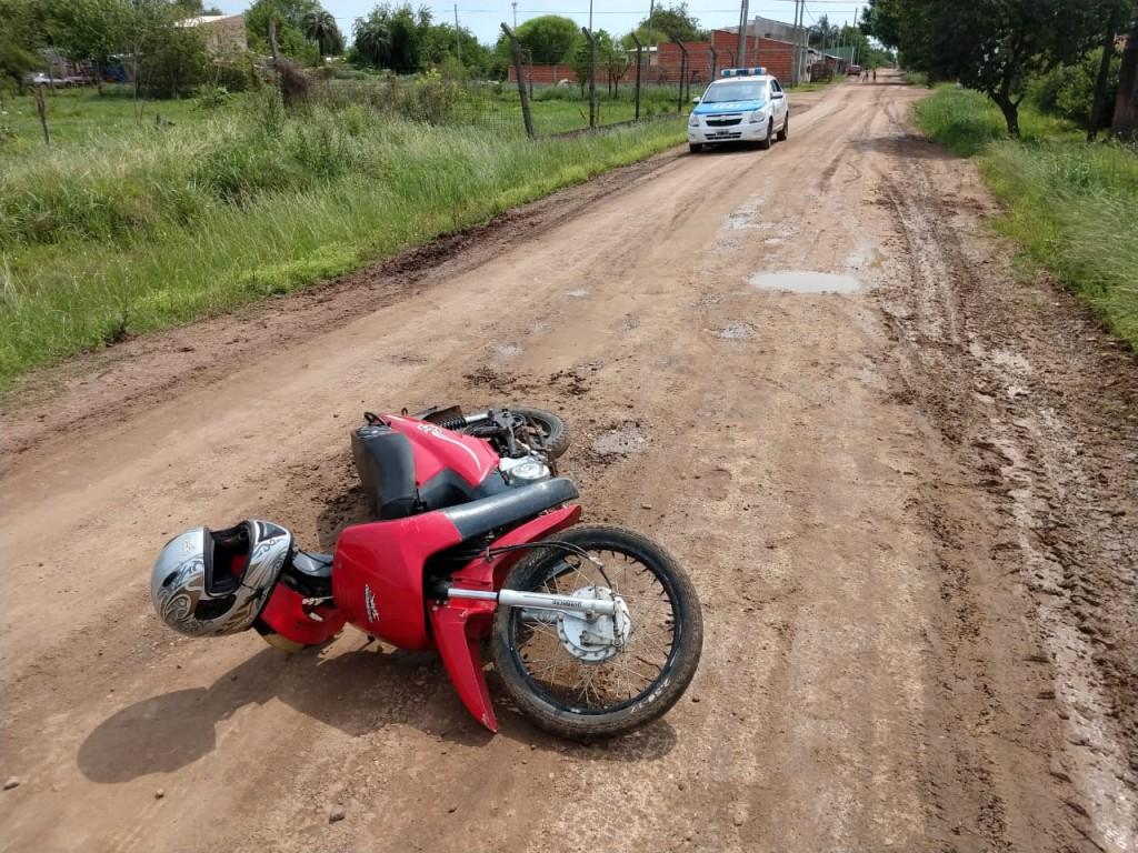 Accidente de tránsito en calle Seghezzo.