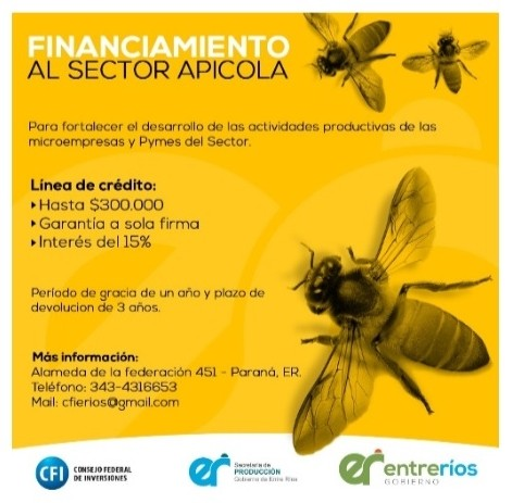 Financiamiento al sector apicola