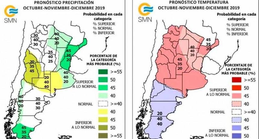 Pronóstico trimestral: Qué pasará con la lluvia y temperatura hasta fin de año