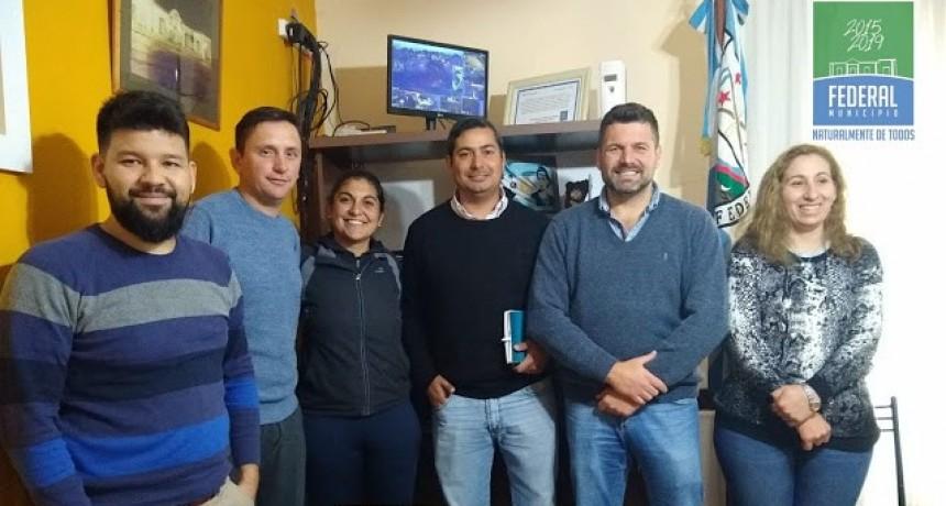 Reunión institucional con la nueva comisión  directiva del Atletismo Federalense