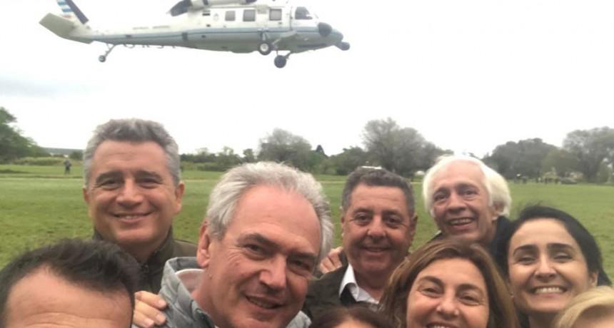 Macri usó el helicóptero presidencial para su campaña en Entre Ríos