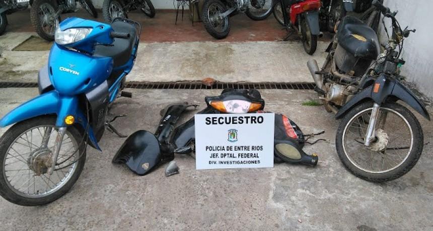 Tras allanamiento recuperan dos motos robadas