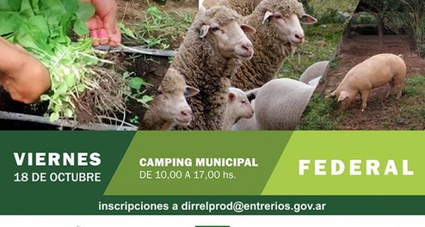El primer encuentro provincial de Agricultura Familiar y Desarrollo Rural tiene como sede a Federal