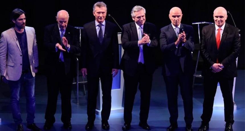 Con cruces entre Macri y Fernández, debatieron los seis candidatos a presidente