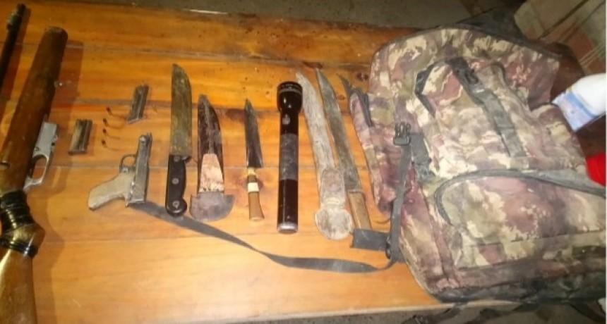 Detenidos con armas de fuego sin documentación