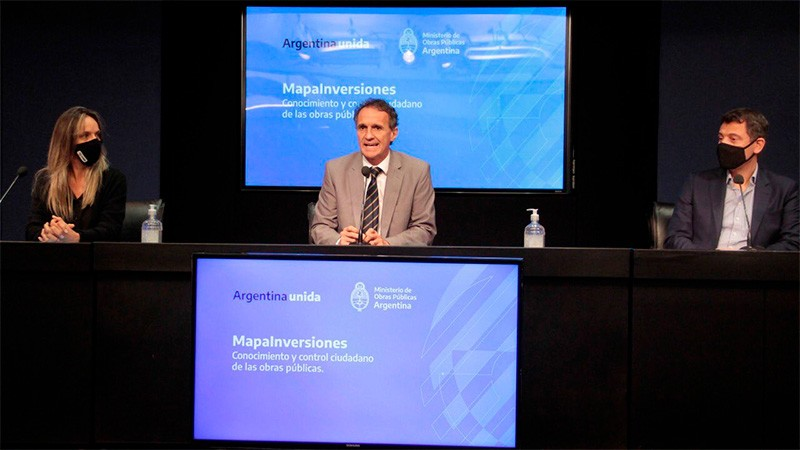 El Gobierno lanzó MapaInversiores, una plataforma para controlar la obra pública