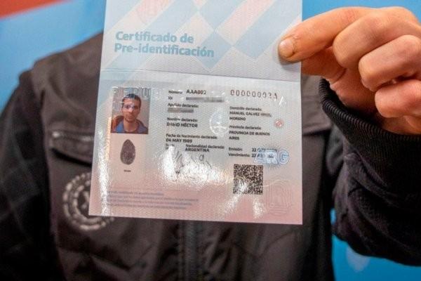 Cómo será el certificado de pre identificación para quienes no posean DNI
