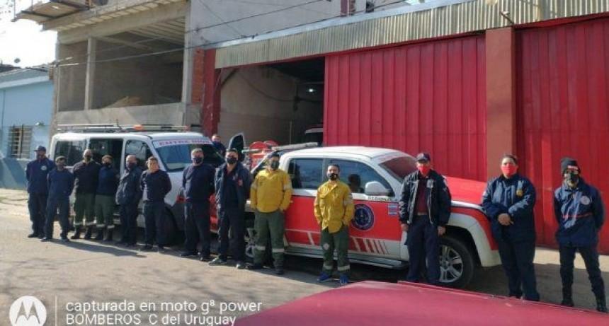Incendios: bomberos entrerrianos, que incluye a federalenses ,  partieron rumbo a Córdoba