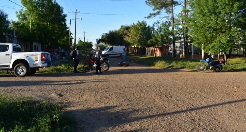 Accidente de tránsito en calle San Martin y Echagüe