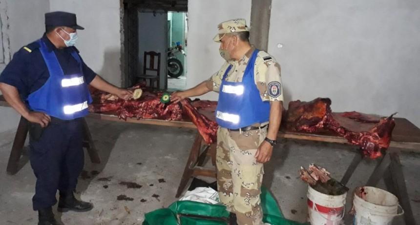 Actuaciones por infracciones a la ley de carne N°72/92, con el secuestro de 140 kg de carne.