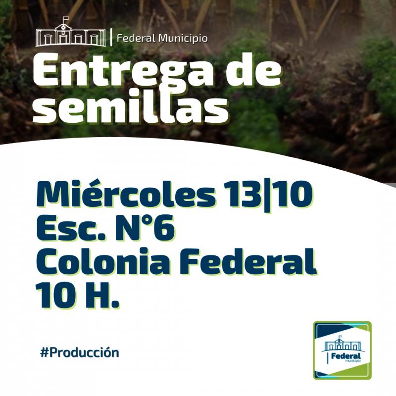 Entrega de semillas de estación en Colonia Federal