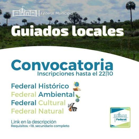 Federal : convocatoria a Guiados Locales