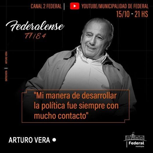 Arturo Vera, uno de los federalenses que pasó por el Ciclo de Conversaciones