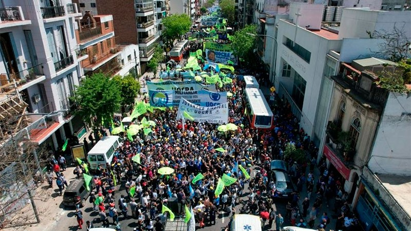 CGT celebró el Día de la Lealtad con masiva movilización y respaldo al Gobierno
