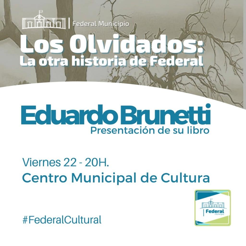 Eduardo Brunetti presenta su libro