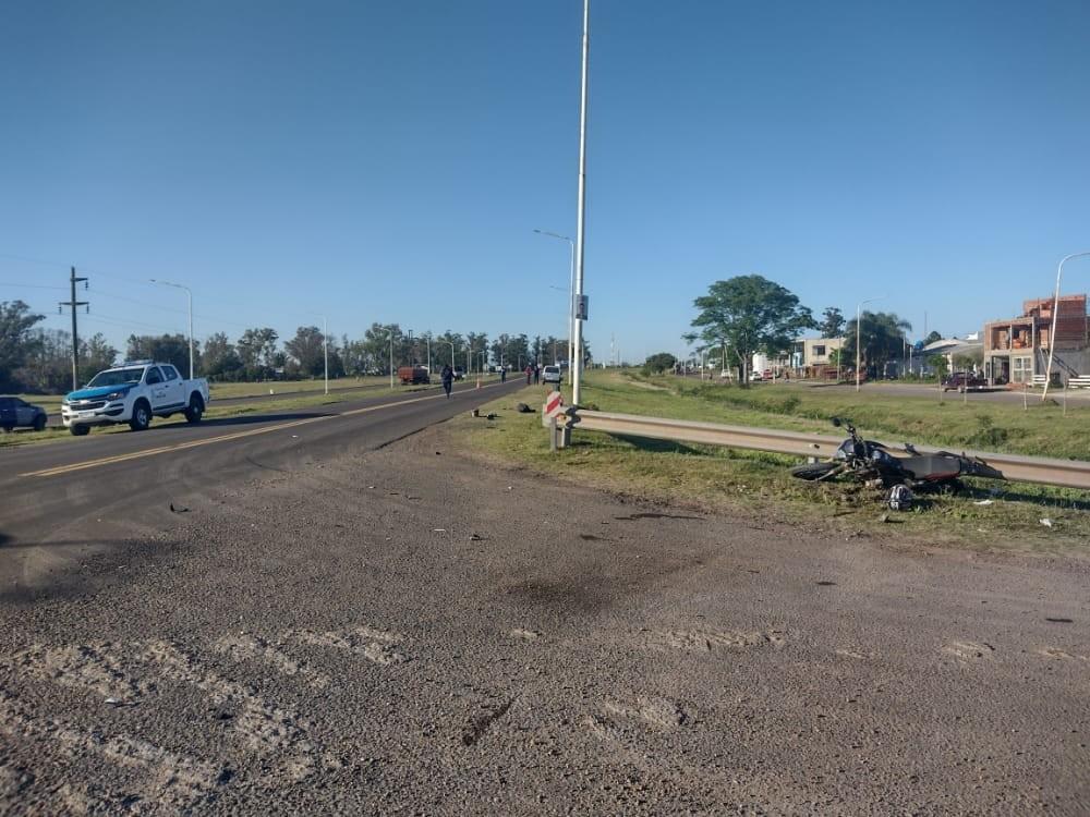 Siniestro vial sobre Ruta N 127 y calle Cepeda
