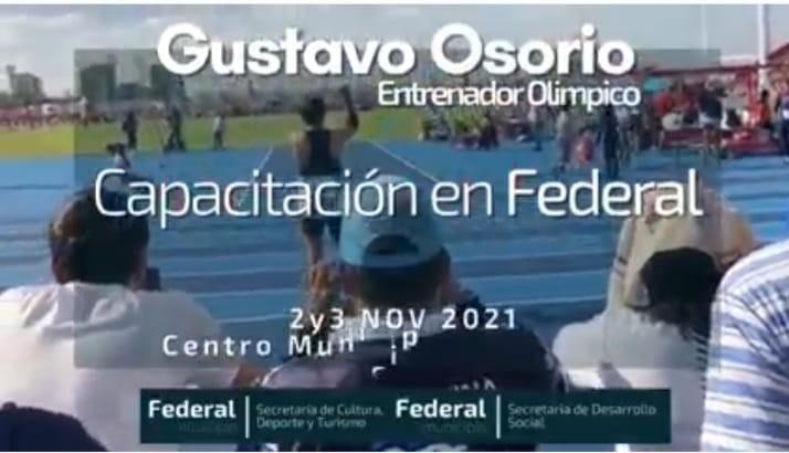 Inscribite a la jornada que brindará el entrenador olímpico Gustavo Osorio en Federal.