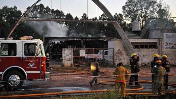 IMPRESIONANTE: explotó un depósito de garrafas en General Rodríguez