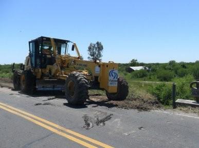 Vialidad Nacional trabaja en mantenimiento de las rutas Nacionales